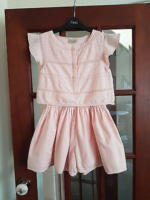 girls NEXT Pink playsuit collots outfit age 11 years