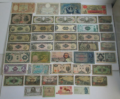 WOW! Nice Collection of Older Vintage Foreign Notes