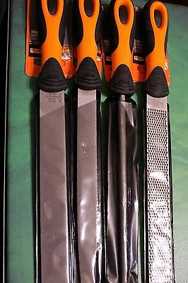 Bahco Wood Metal File Set 4 Pieces