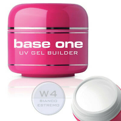 Silcare Base One Bianco Estremo W4 White UV Nail Builder Gel 5g French Extension