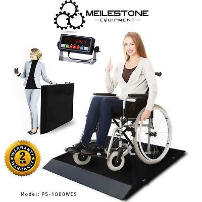 New Sturdy Ultra Portable 1000lb/0.2lb Wheel Chair Scale w/indicator