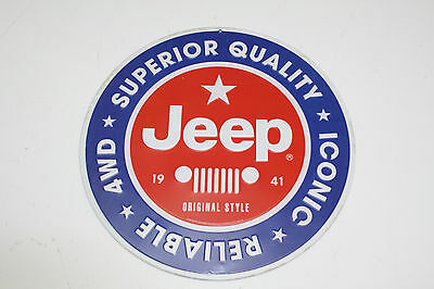Jeep Superior Quality 4WD Embossed Tin Sign Vintage Style Garage 12 x 12