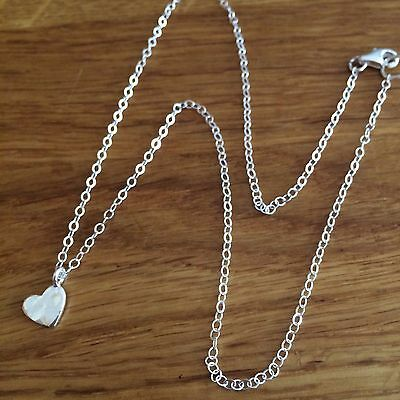 Designer Sterling Silver hammered heart choker necklace small tiny  jewelry gift