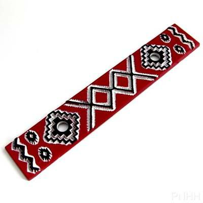 "Southwest Handpainted Backplate Red, Black & White for 3"" Cabinet Handle Pull"