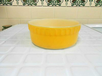 Vintage Pyrex, Milk Glass  Souffle Dish - Bright Yellow, Great condition.