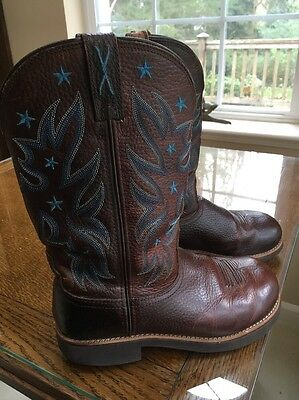 "12"" Women's TWISTED WIRE Western Cowboy Boots Size 8 M."