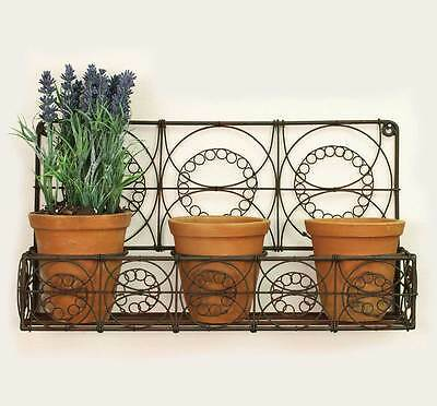Outdoor Hanging Wire Wall Basket Wall Planters Indoor Rustic Flowers Herbs New