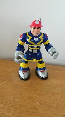 2001 SAM SPARKS Night Patrol Firefighter RESCUE HEROES Action Figure 78194