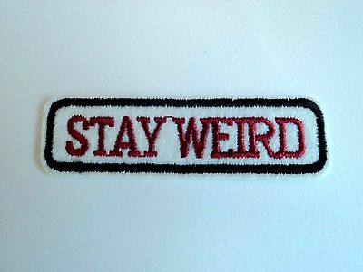 1x Stay Weird Hippie Patch Embroidered Cloth Patches Applique Badge Iron Sew On