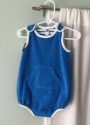 BABY GAP NWTS Reversible 12-18 Months One Piece Sleeveless Outfit Blue & White