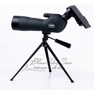 GOMU Angled 20-60x Zoom Spotting Scope Monocular +Tripod +Phone Adapter+Case B9B