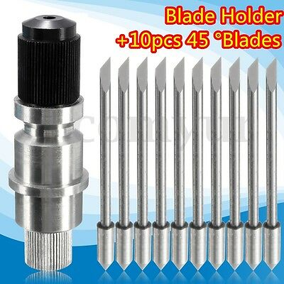 Plotter Blade Holder + 10PC 45 Degree Blades For CB09 Graphtec Cutting Plotter
