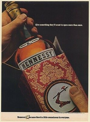 1970 Hennessy Cognac Give Something They'll Want to Open More Than Once Print Ad
