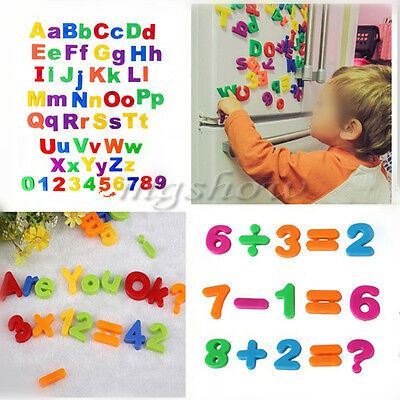 78pcs Colorful Letters Alphabet Numbers Fridge Magnetic Kids Baby Learning Toys