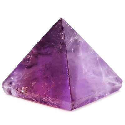 Amethyst Crystal Pyramid Egyptian Clear Stone Home Office Decoration Healing