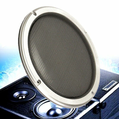 New 8'' Silver Circle Round Mesh Woofer Speaker Protective Grille + 4 Screws