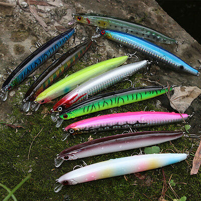 3D Eyes 18cm Fishing Lures Crankbaits Hooks Minnow Bass Baits Hooks Tackle New