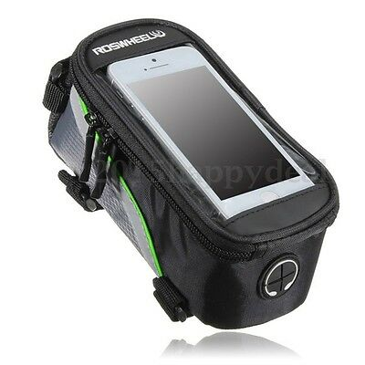 ROSWHEEL Bike Bicycle Road MTB Front Top Tube Bag Pouch Cell Phone Touch Screen