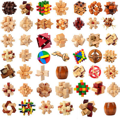 Chinese Kongmin Luban Wooden Interlocked Puzzle Intelligence Toy For Adults Kids