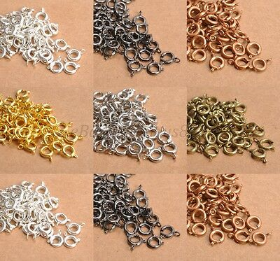 40pcs Gold & Silver Plated  Bronze, BOLT RING CLASPS - Choose - 6MM & 7MM