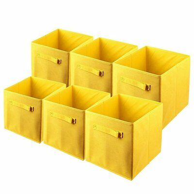 6PK Folding Fabric Storage Bin Closet Organizer Toy Cube Magazine Container New