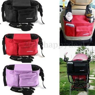 Pram Stroller Baby Nappy Diaper Changing Pushchair Bag Storage Organiser Handbag