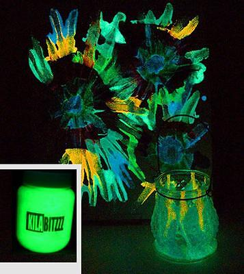 Bright Kilabitzzz Zuperpaint Glow in the dark strontium aluminate acrylic paint