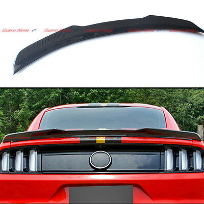 A Style For 2015 2016 + Ford Mustang GT Carbon Fiber Rear Trunk Spoiler Boot Lip