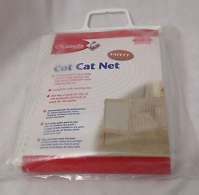 New John Lewis Clippasafe Baby Cot Cat Net For Cot Bed