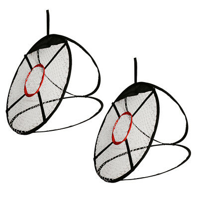 2pcs 61cm Pop Up Golf Chipping Net Training Aid Practice Indoor Outdoor