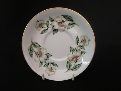 Crown Staffordshire Christmas Roses 12.5cm Saucers