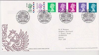 GB ROYAL MAIL FDC COVER 2010 MACHIN DEFINITIVES 60p - £1.46 & NVI's TALLENTS PMK