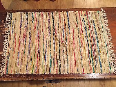 Sturbridge Rag Rug- 2' x 3' - 100% Cotton - color - Honey