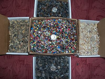 100 fossil shark teeth ammonites  and 100 gemstones per lot