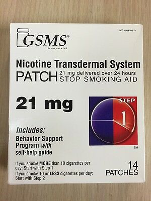 14 STEP 1 GSMS Stop Smoking Aid  EXP 03/2018 Nicotine Transdermal Patches