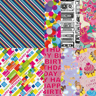 Roll Gift Wrap Wrapping Paper 1.5m 2m Happy Birthday