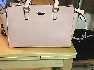 New York & Co. Winged Faux-Leather Tote Bag Pink Color New York & Company