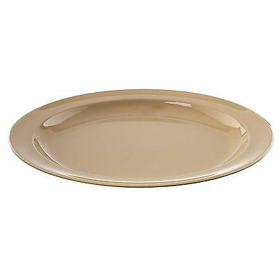 Thunder Group 1 Dozen 6.5in Tan Melamine Plates - NS106T