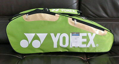 Brand New Yonex 9627 Badminton Bag (Green) - Hold 2-4 Rackets, the Newest Style.