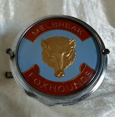 Melbreak Foxhounds Car Badge 1 Of Only 4 Made c1970 Lake District Fox Hunting