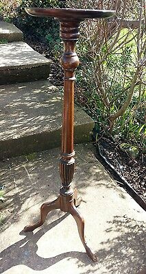 wooden torchere, plant stand. Tall