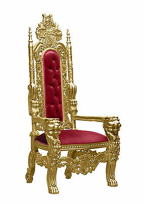 Lion King    -  Gold Leaf - Throne Chair
