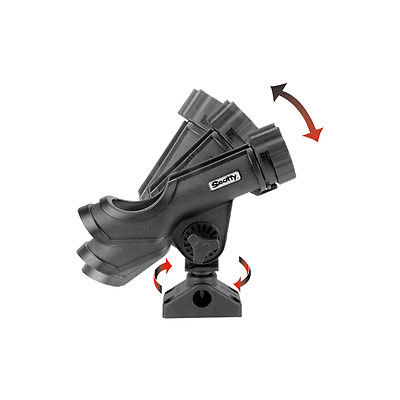 Scotty 230 Powerlock Rod Holder Side Deck Mount Black