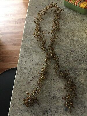 Pottery Barn Pepperberry 60 INCH BEADED GARLAND FALL BROWN GOLD