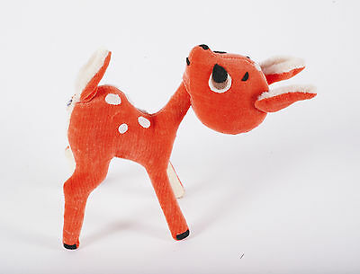 Vintage Dakin Dream Pets Sweet DEER Fawn Orange with Spots 1960's Stuffed Animal