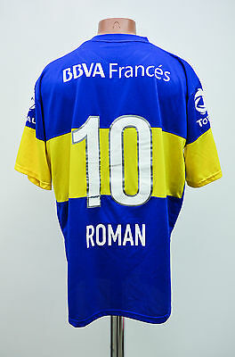 Boca Juniors Argentina 2010/2011 Home Football Shirt Jersey Nike Roman #10
