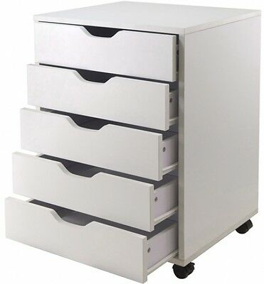 Hobby Craft Storage Organizer Mobile 5-Drawer Cart Art Drawing Sewing Cabinet