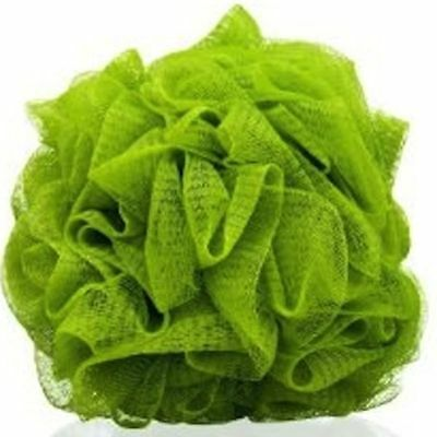 Body Shop Polisher Bath Sponge Puff Shower Lily Green Wash Scrunchie FULL SIZE