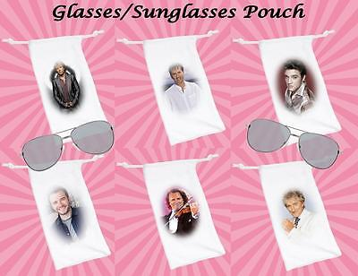 Glasses/Sunglasses Soft Silky Drawstring Pouch Retro Music Acts