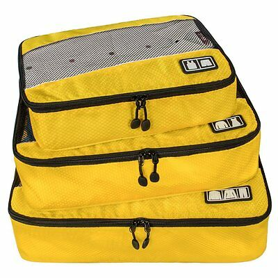 BAGSMART Travel Packing Cube Small-Large 3 Piece for Carry-on Travel Suitcase
